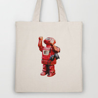Bibot Robot Tote Bag by Revital Naumovsky | Society6