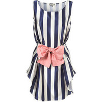 Striped Dress by Love** - TopShop - Polyvore