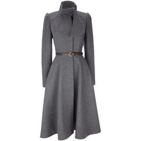 GREY 1923 SCARF RIDING COAT - View All New In - New In - Wom... - Polyvore