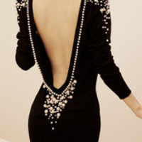 Pearly queen black dress