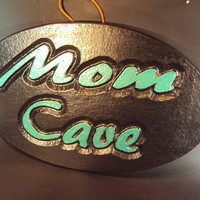 Mom Cave Stone Wall Hanging