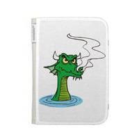 dragon head out of water horned.png kindle 3G cases from Zazzle.com