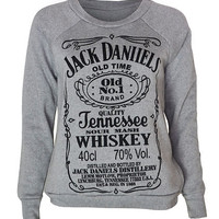 WOMENS JACK DANIELS LOGO JUMPER SWEATER TOP SIZE 8 10 12 14