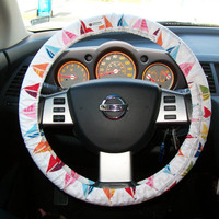 Sail Boats Steering Wheel Cover
