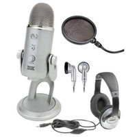 Amazon.com: Blue Microphones Yeti USB Condenser Plug-and-Play Microphone with Studio Headphones and Microphone Pop Filter: Musical Instruments