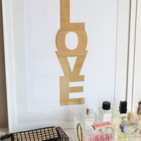 MadeByGirl - LOVE CANDY METALLIC GOLD