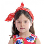 C'mon Eileen Headband Red Polka
