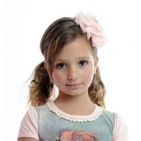 Mabel Flower Headband Muted Pink