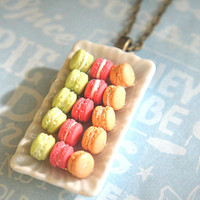 french macaroons platter necklace