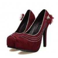 Wholesale Wholesale women shoes fashion pumps SY-C2028 red - Lovely Fashion
