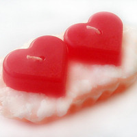 Candle Cake Heart free shippingValentines day  rusteam by rahlen