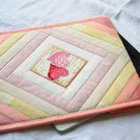 Lovely hearts iPad sleeve iPad cover iPad 2 case by GaliaK on Etsy