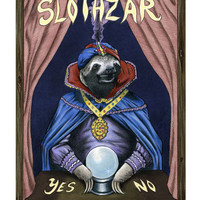 Slothzar art print LIMITED EDITION 8x10
