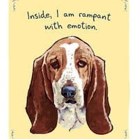 $12.00 Basset Hound 5x7 Print of Original Painting by tinyconfessions