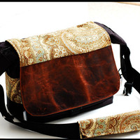 Genuine Leather DSLR Camera Messenger  Bag W/ by sizzlestrapz