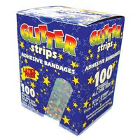 Band-Aid, Sheer Strip ,3/4x3, Glitter Strips, Box/100