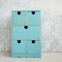 Rustic Wooden Keepsake with 5 drawers by Grimme on Etsy