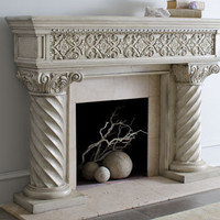 """Regal"" Fireplace Mantel - Horchow"