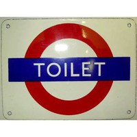 Toilet London Underground roundel small enamel sign (ba)