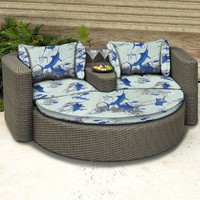 Guy Harvey All Weather Wicker Outdoor Daybed - Conversation Patio Sets at Hayneedle