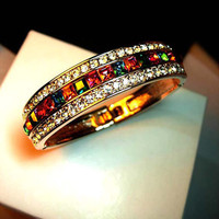 Bohemian Multicolor Crystal Diamond Girlfriend Bracelet Gift - GULLEITRUSTMART.COM