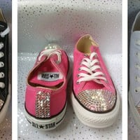 Converse All Star Sparkling Crystal Custom Trainers Made With SWAROVSKI ELEMENTS