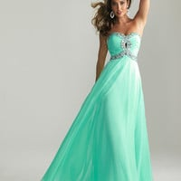 2013 New Long Chiffon Sweetheart Strapless Prom Dress Ball Gown Party Evening