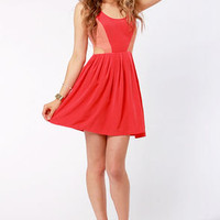 BB Dakota Ripley Cutout Red Dress
