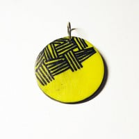 Yellow Pattern Pendant