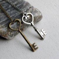 Key Necklace with Chain (8 styles to choose)