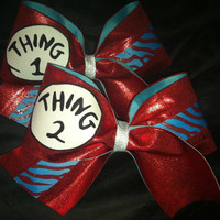 Thing 1 &amp; Thing 2 Cheer Bows
