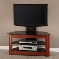 Walker Edison 42-Inch 4-in-1 TV Stand with Removable Mount, Cherry/Black
