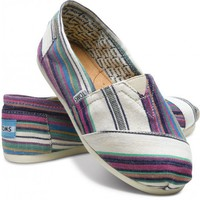 Classics - Village Stripe Natural Women&#x27;s Classics | TOMS.com
