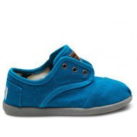Tiny TOMS - Blue Wool Tiny TOMS Cordones | TOMS.com