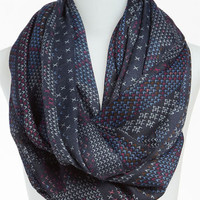 David &amp; Young Patterned Infinity Scarf | Nordstrom