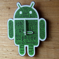 Android  Wall Clock Robo 