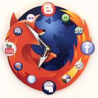 Mozilla Firefox Icon Wall Clock