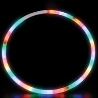 28 Inch LED Lighted Twist Hula Cosmic Glow Hoola Hoop