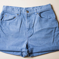 High Waisted Style & Co Blue Shorts