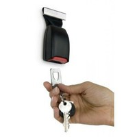 Buckle Up Keychain Holder - Seat Belt Style Key Ring Holder