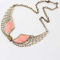 Pink Wing Collar Necklace