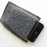 Gray iPhone iPod Cover Wool Knitted and Felted by GoodWeather