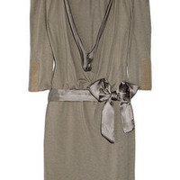Maje Aparte wool-jersey and silk-satin dress - 45% Off Now at THE OUTNET