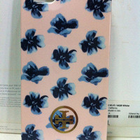 A13 New Tory Burch Pink Blue Flower Hard Shell Case Cover For Apple Iphone 5 5G
