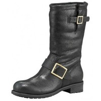 Jimmy Choo Shearling-Lined Biker Boot