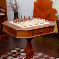 Signature Oak Multi-Game Table - Chess Tables at Hayneedle