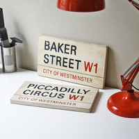 London Street Signs  Custom Hand Painted by UtopiaHomeAndGarden