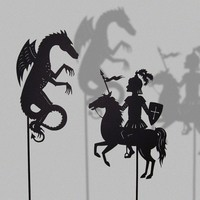 Saint George and the Dragon / Laser cut Shadow by IsabellasArt