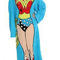 DC Comic Wonder Woman, Being Wonder Woman 48-Inch-by-71-Inch Adult Comfy Throw with Sleeves by The