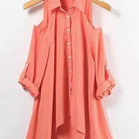 # Free Shipping # Asymmetry Watermelon Women Cotton Top One Size WO938452wa from ViwaFashion